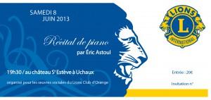 Lions Club- invitation concert 20132